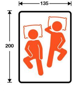 tamaño de cama 135x200 para colchón