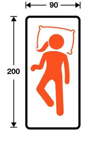 tamaño de colchón para cama 90x200