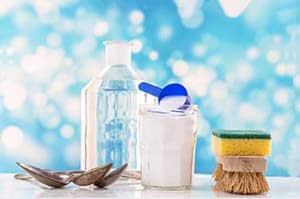 Productos para la limpieza del colchon bicarbonato cepillo