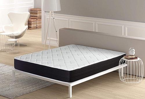 dormitorio con colchon dormideo viscoelastico elixir de 24cm de altura