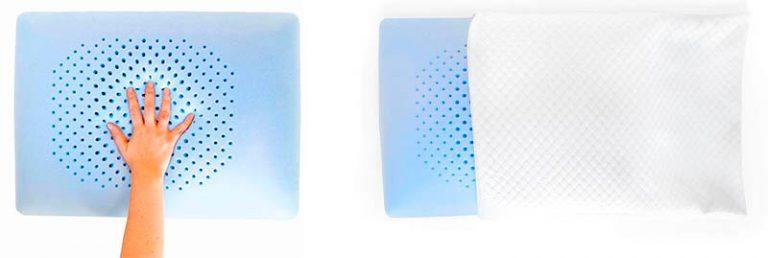 almohada viscoelastica perforada para su transpiracion
