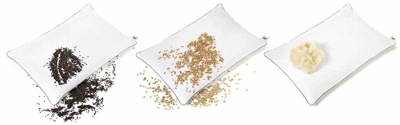 almohada cervical NATURECA almohada natural de cáscara de espelta orgánica
