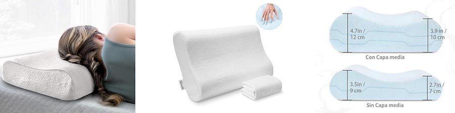 almohada cervical para personas con problemas de cuello y espalda