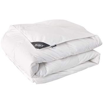 Umi. Essentials Blanco Edredón de Plumas y Plumón con Cubierta de Algodón