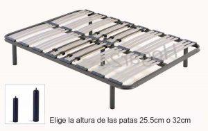 HOGAR24 ES Somier multiláminas con Reguladores Lumbares