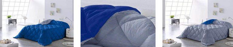edredon Lucena Cantos - Edredón Nórdico LÍNEA, Fibra 400 gr, Azul (Blue)