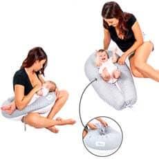 posicion de almohada para embarazadas y cojín de lactancia