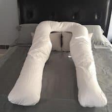 tamaño de la almohada para embarazadas en forma de u samay