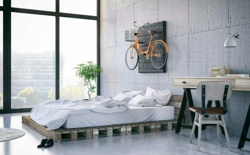 Dormitorio con colchón barato