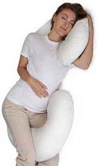 Almohada de cuerpo entero para el embarazo con funda lavable