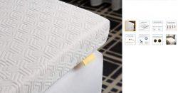 Topper de la casa UTTU de color blanco con 8cm de grosor