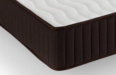 el colchon modelo dormio esmeralda blanco y marron de calidad