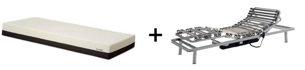 Gerialife Pack Cama articulada con colchón viscoelástico desenfundable